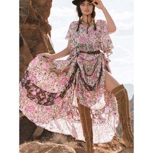 NWT Spell Desert Daisy Maxi Skirt in Lilac - L